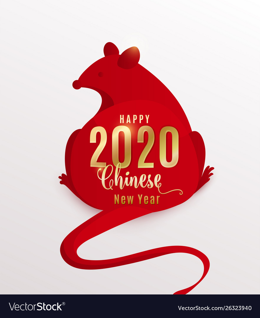 2020 rat happy chinese new year red mouse is