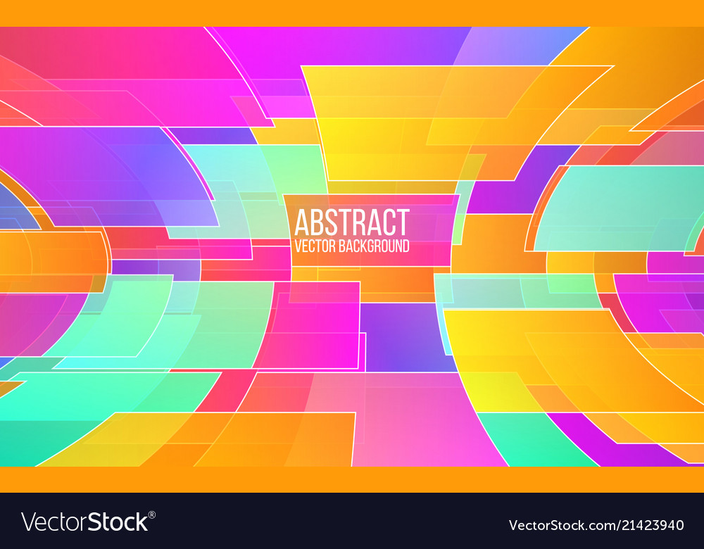 Abstract colorful mosaic trendy color shapes in