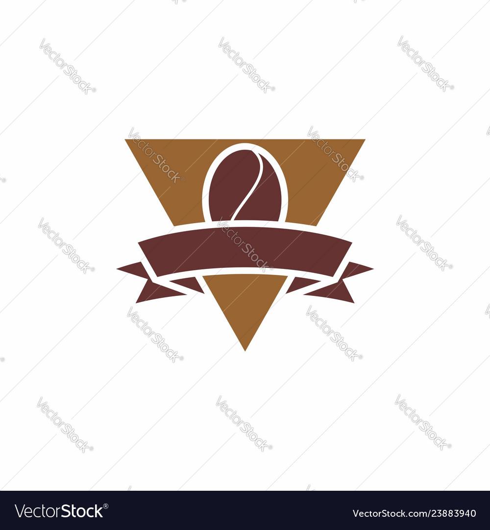 Brown coffee logo