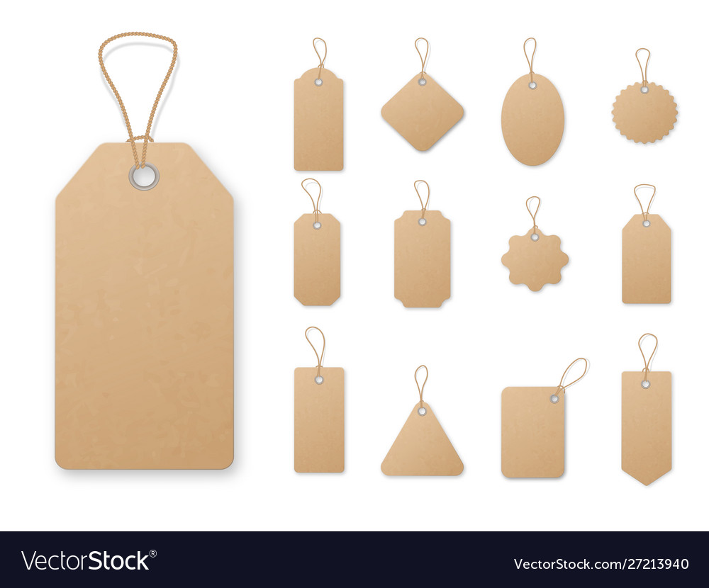 Sale tag and labels template set price tag