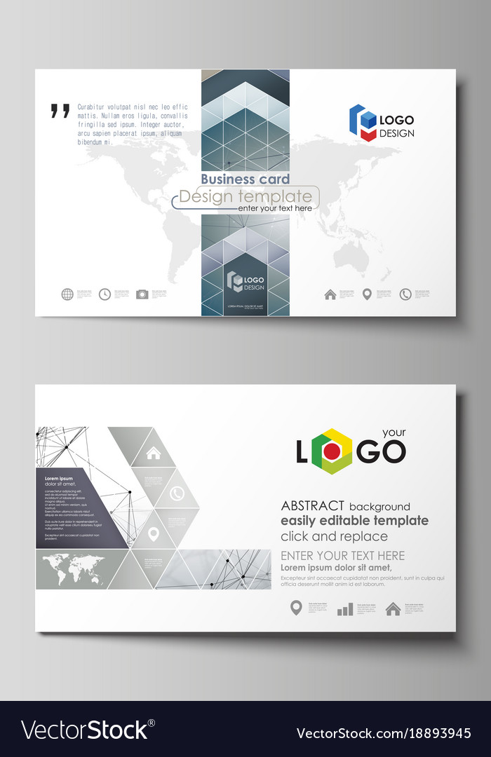 Business card templates easy editable layout vector image flashek Images