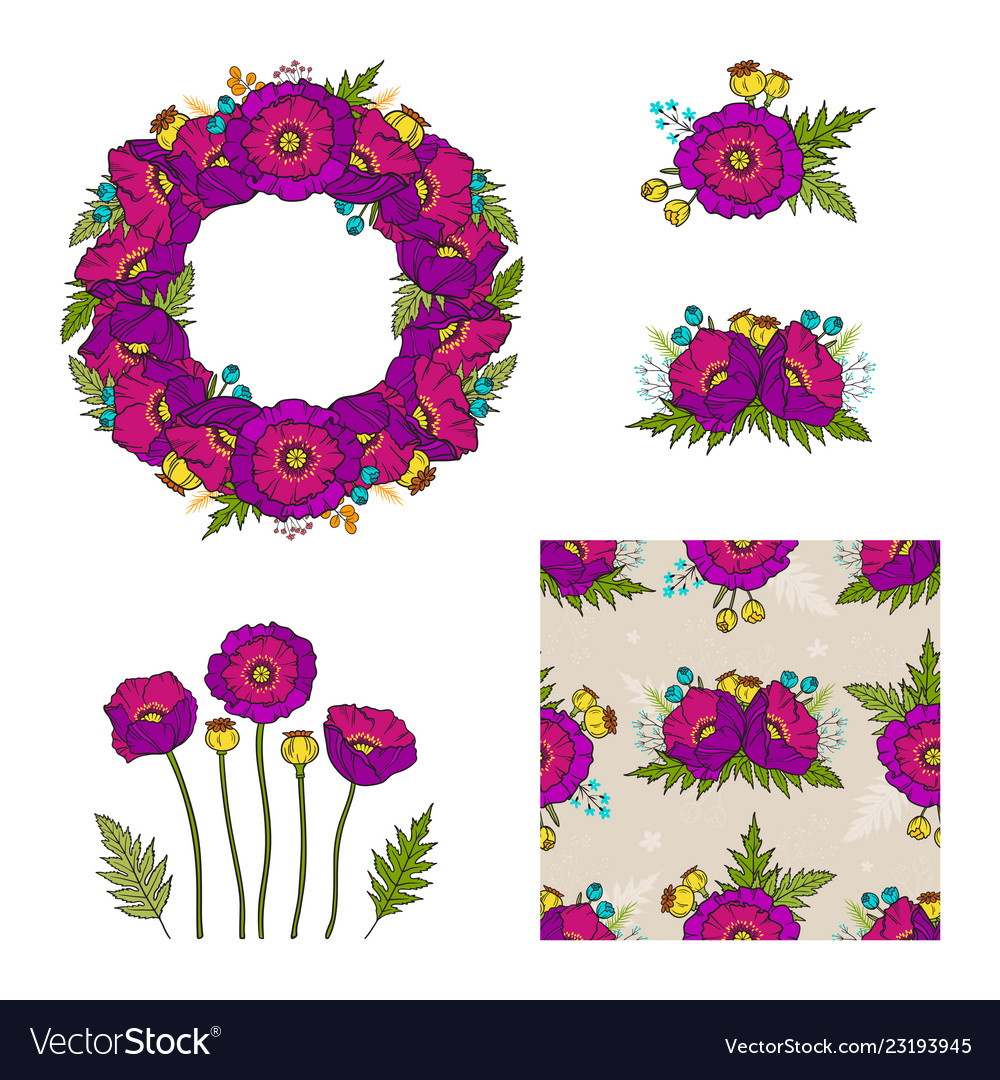 Collection floral elements