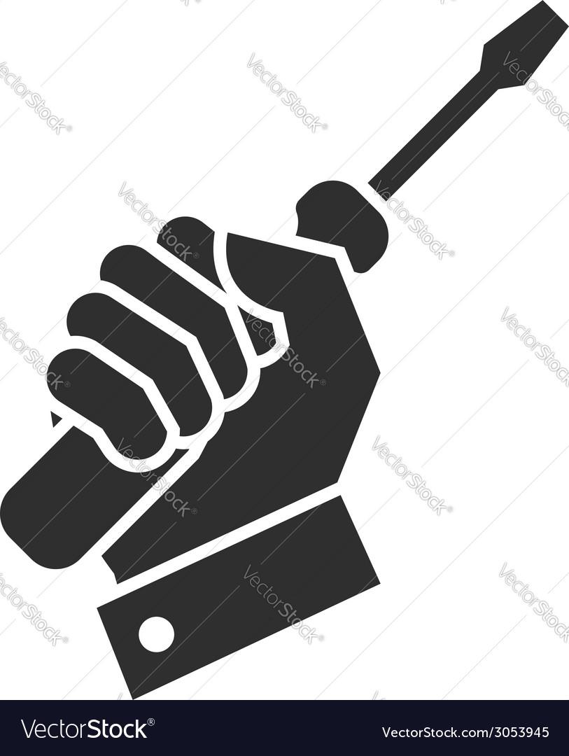 Hand turnscrew icon