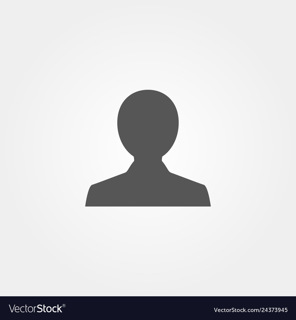 Icon people in flat style grey color