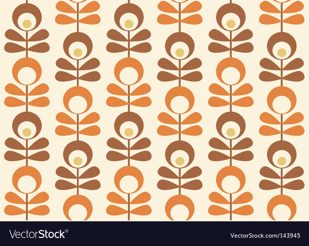 Scandinavian Wallpaper Vector Image
