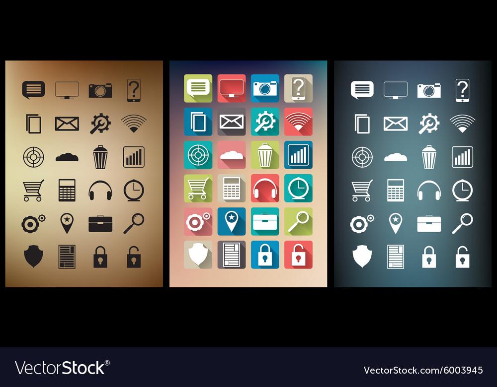 Smartphone app icon set