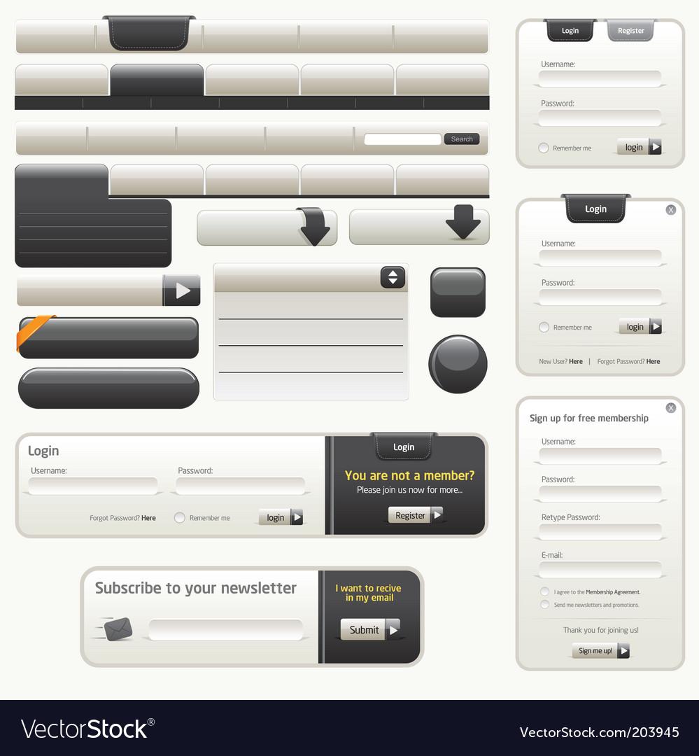 Website design elements |black