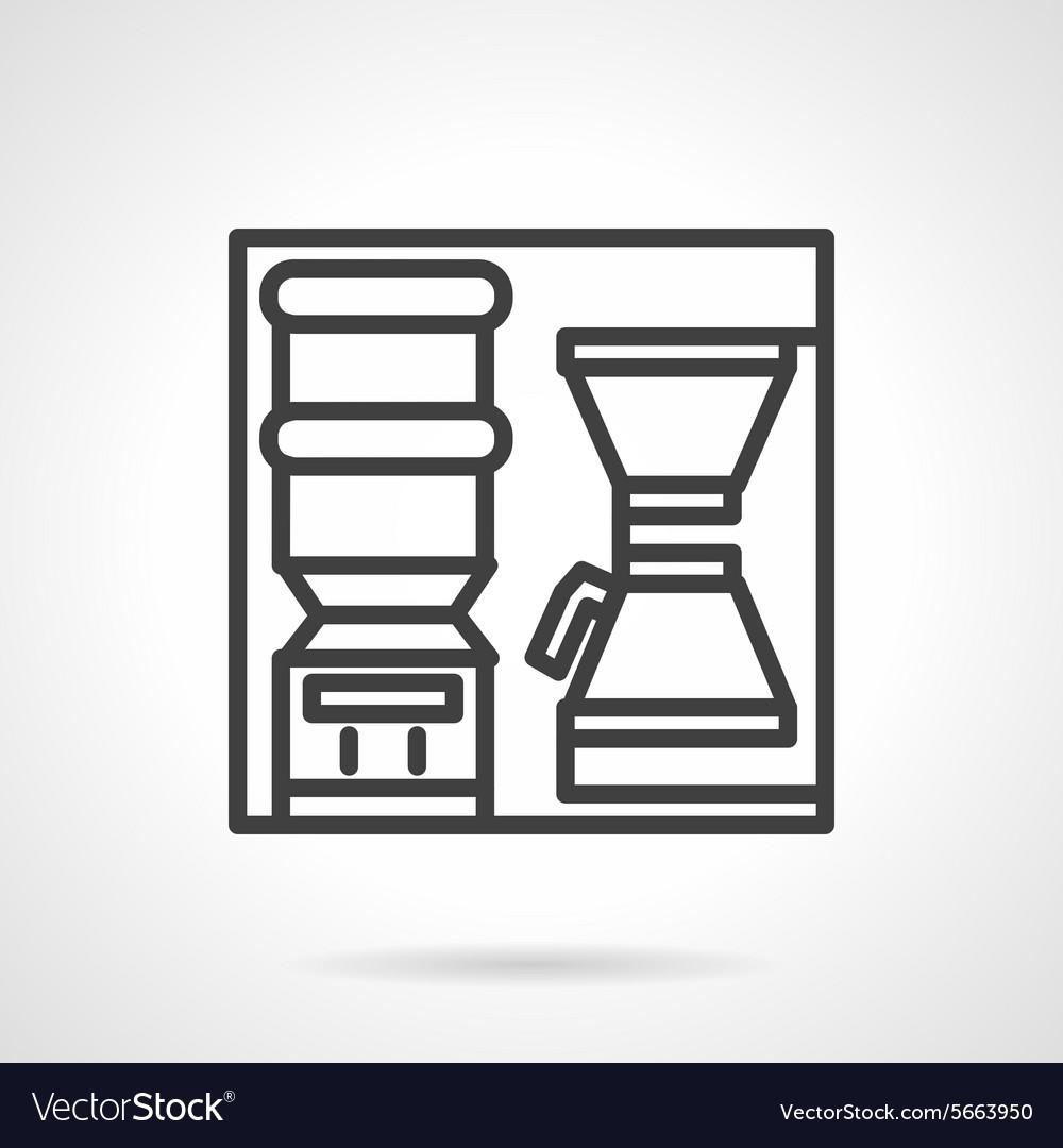 Coffee self-service icon