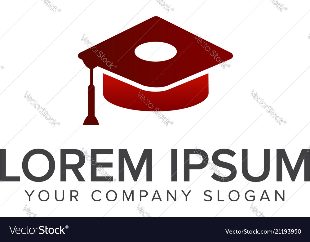 Education logo hat graduation design concept