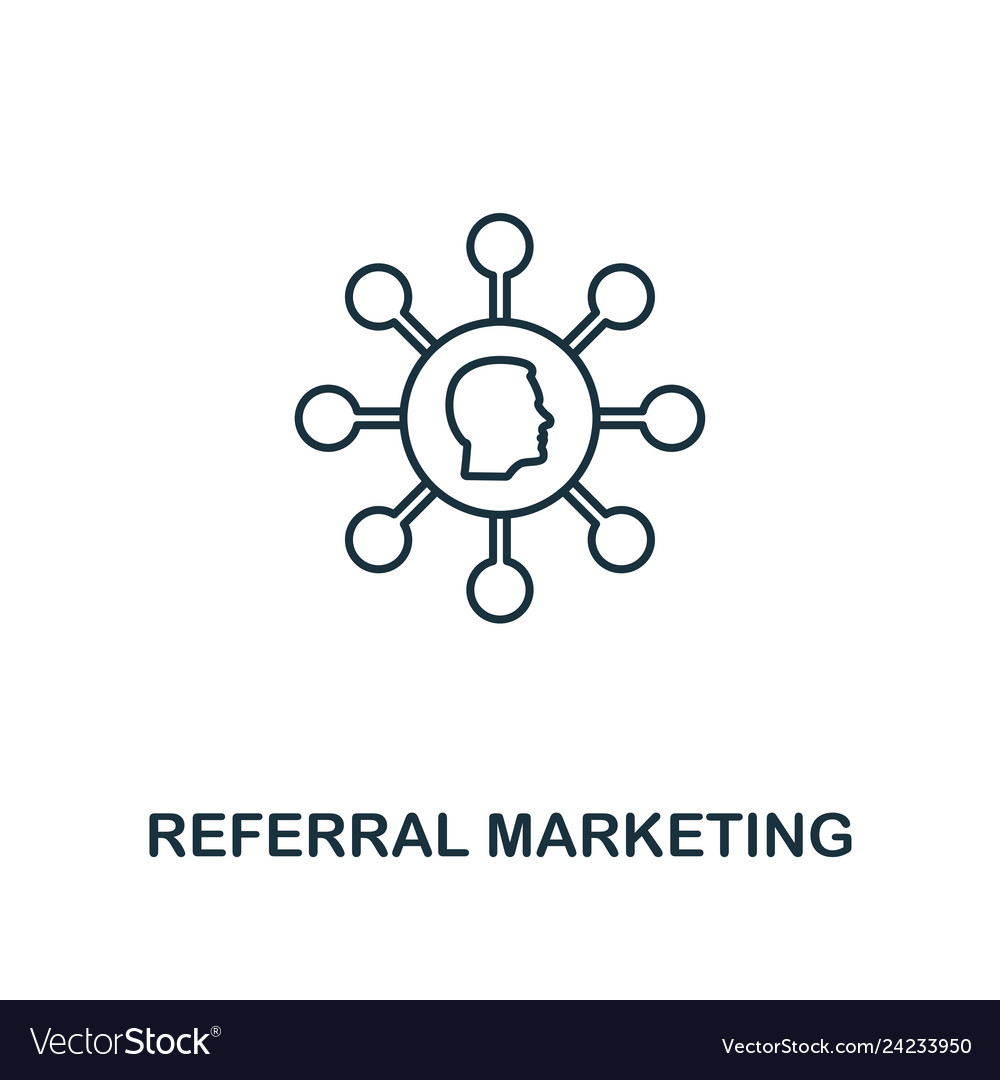 Referral marketing icon thin line style symbol
