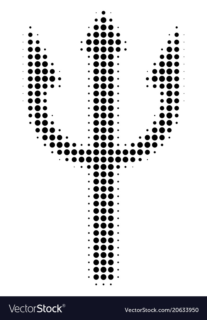 Trident Fork Halftone Icon Royalty Free Vector Image