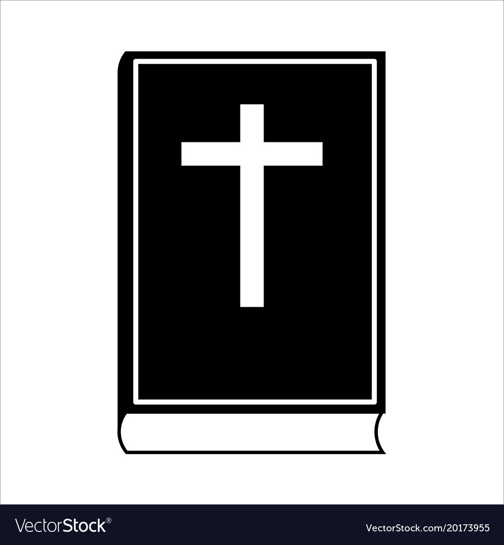 Bible icon isolated on white background vector image