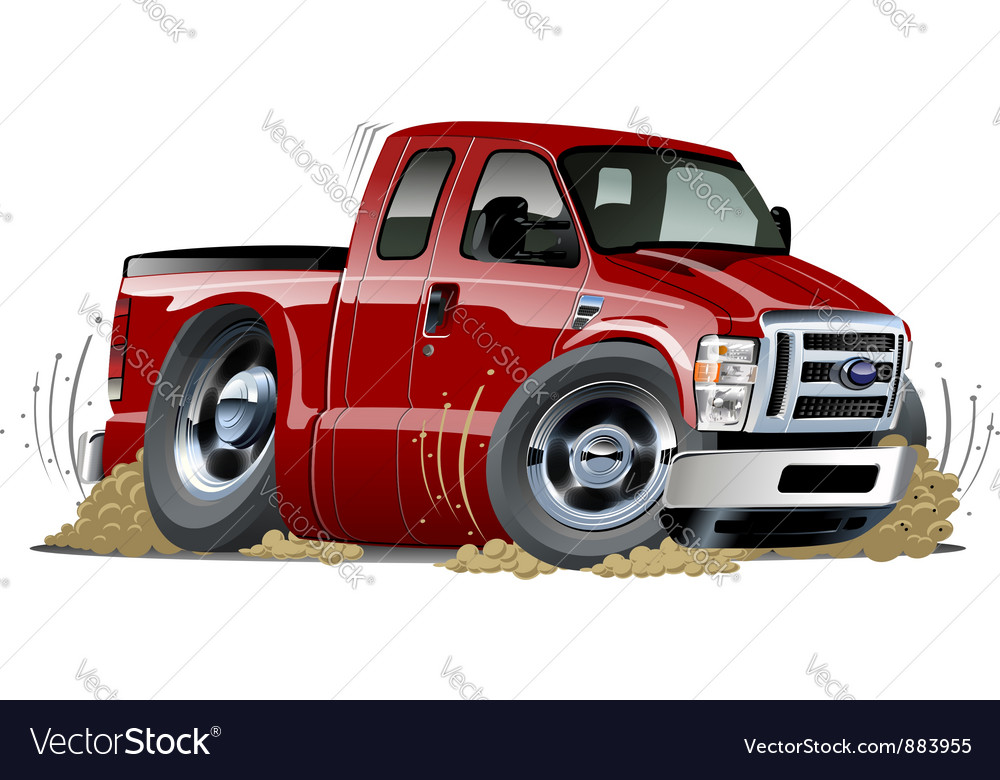 Cartoon muscle pickup vector image