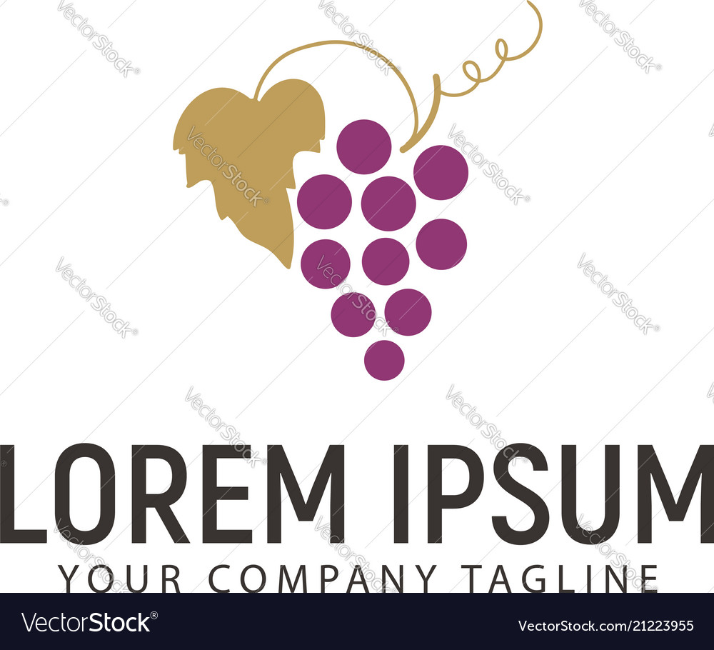 Grape logo design concept template design concept