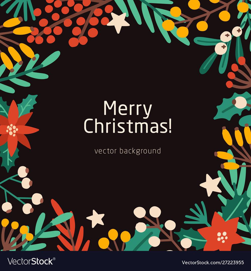 Merry christmas social media banner