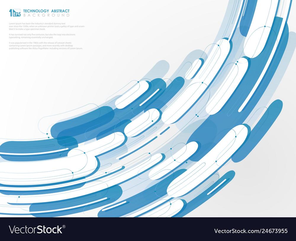 Technology Geometric Blue Line Pattern Background