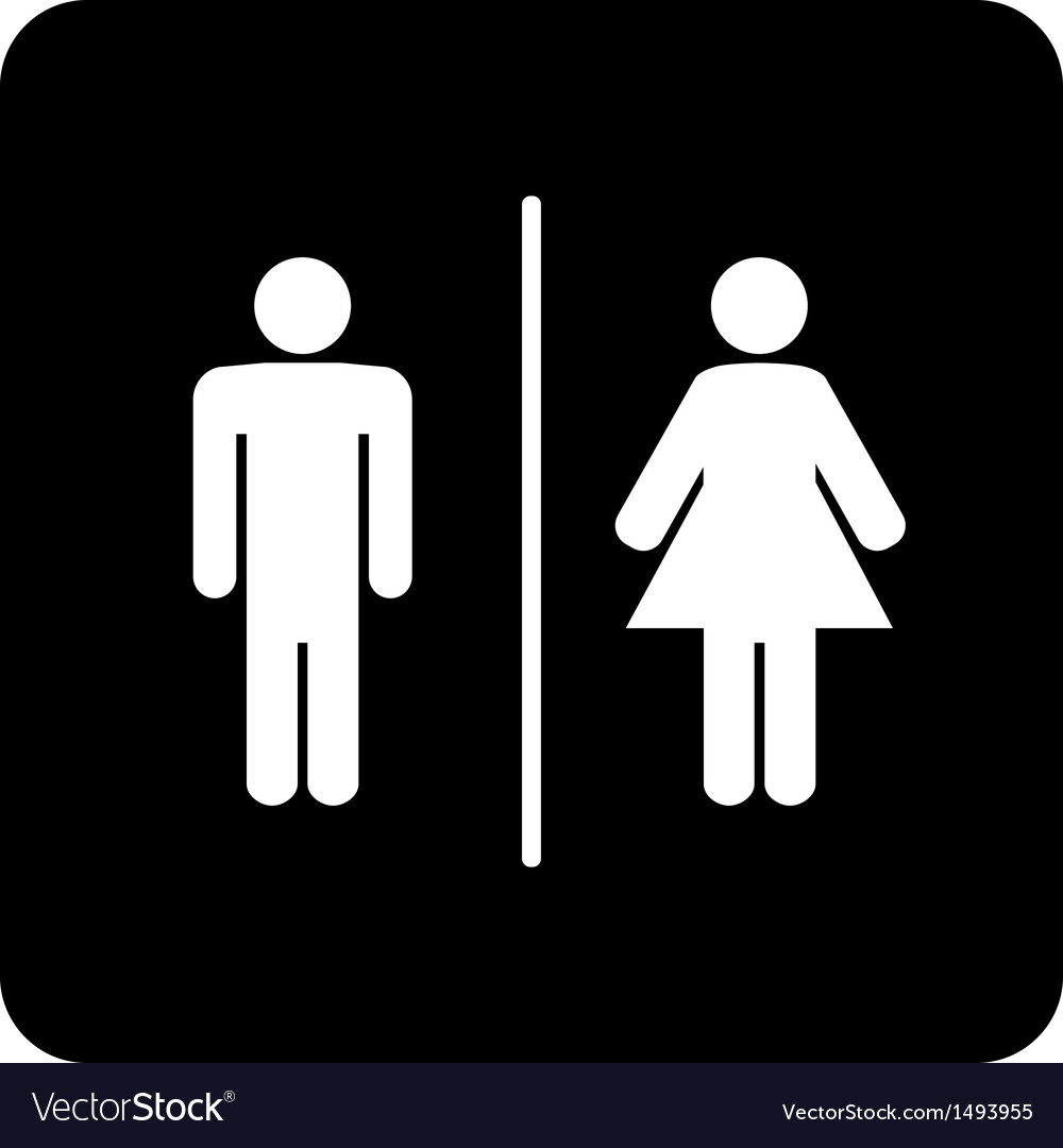 toilet sign royalty free vector image vectorstock vectorstock