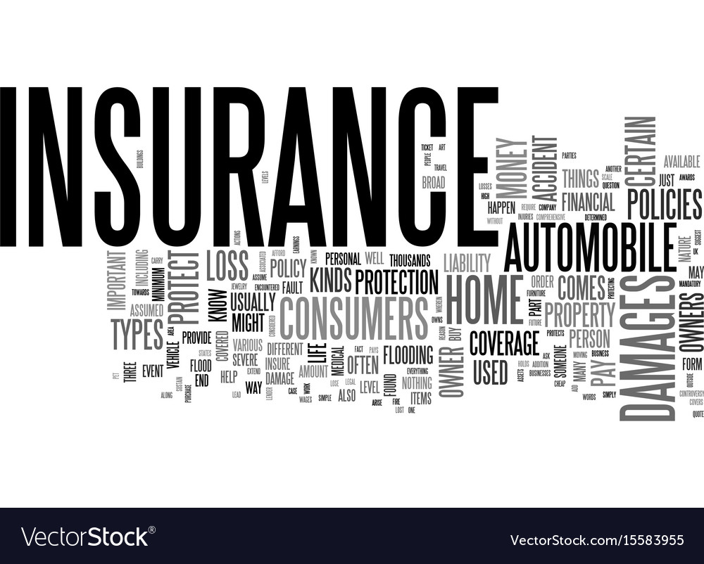 Why is insurance important text word cloud concept