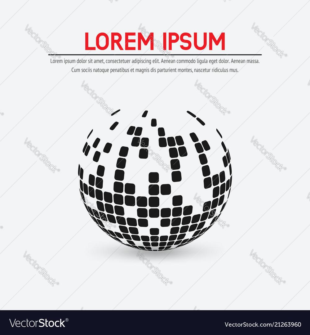Abstract globe shape symbol