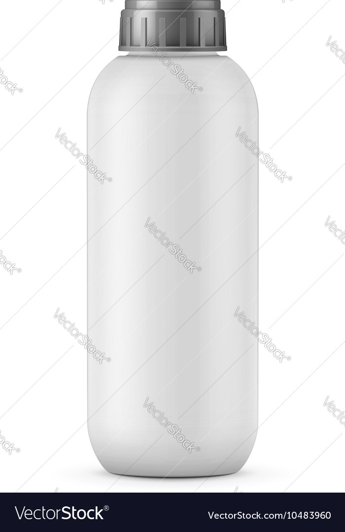 Big white shampoo bottle template vector image