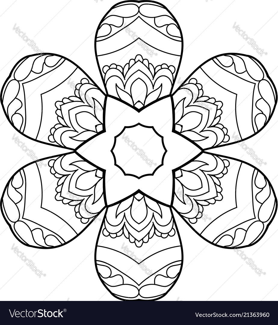 Coloring page with cute owl and floral frame