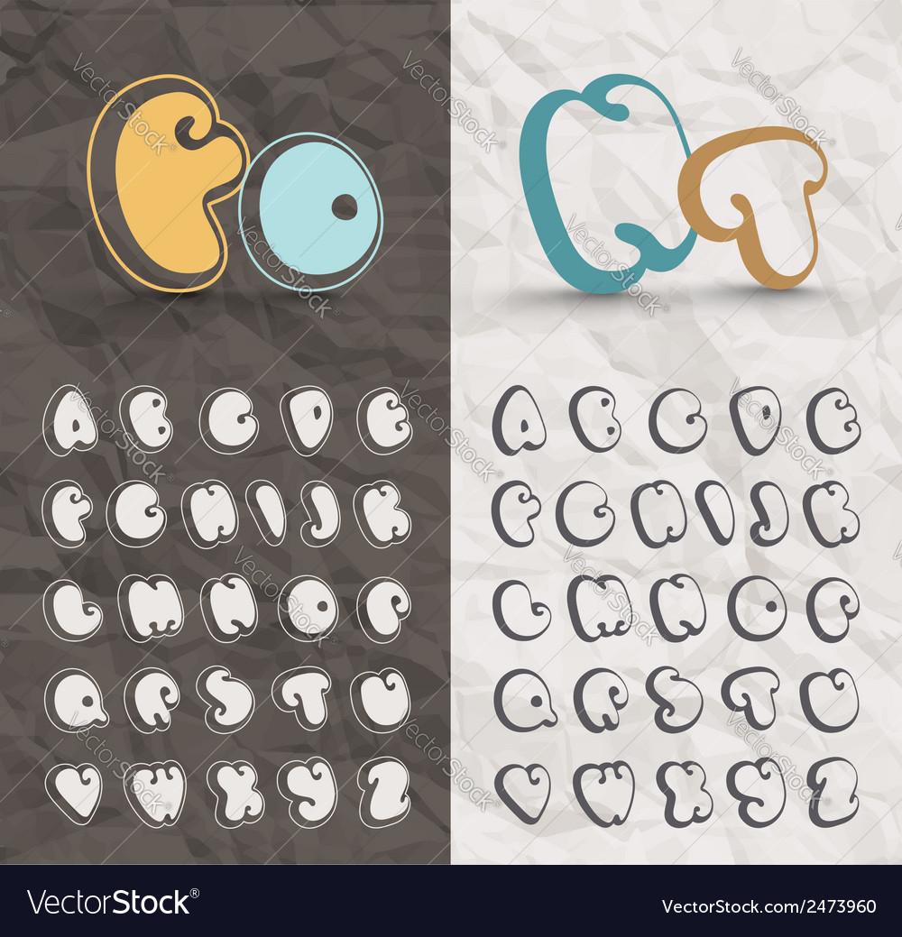 Comic Font vector image