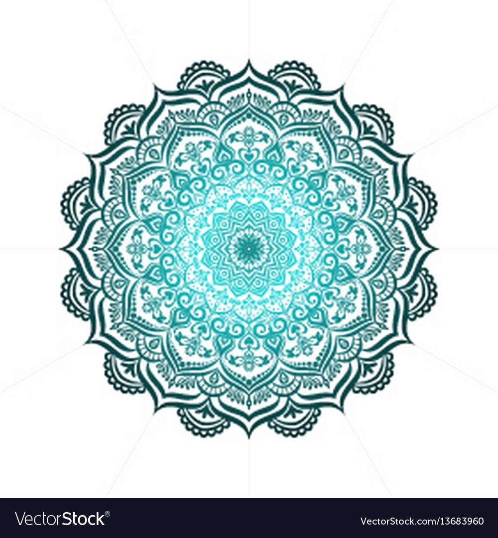 Hand-drawn lace frame mandala