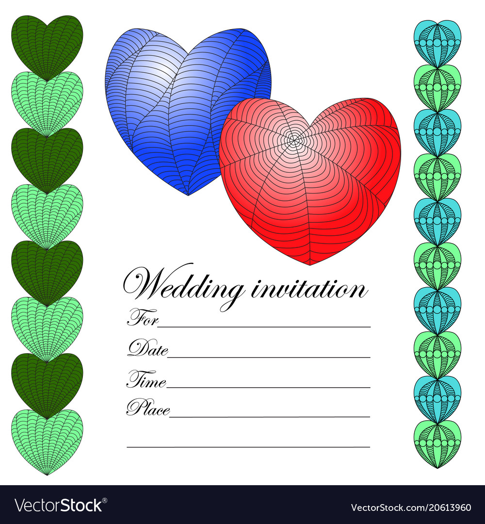 Invitation for a wedding in the style of a zenart vector image stopboris Image collections