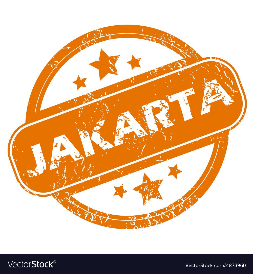 Jakarta rubber stamp vector image on VectorStock