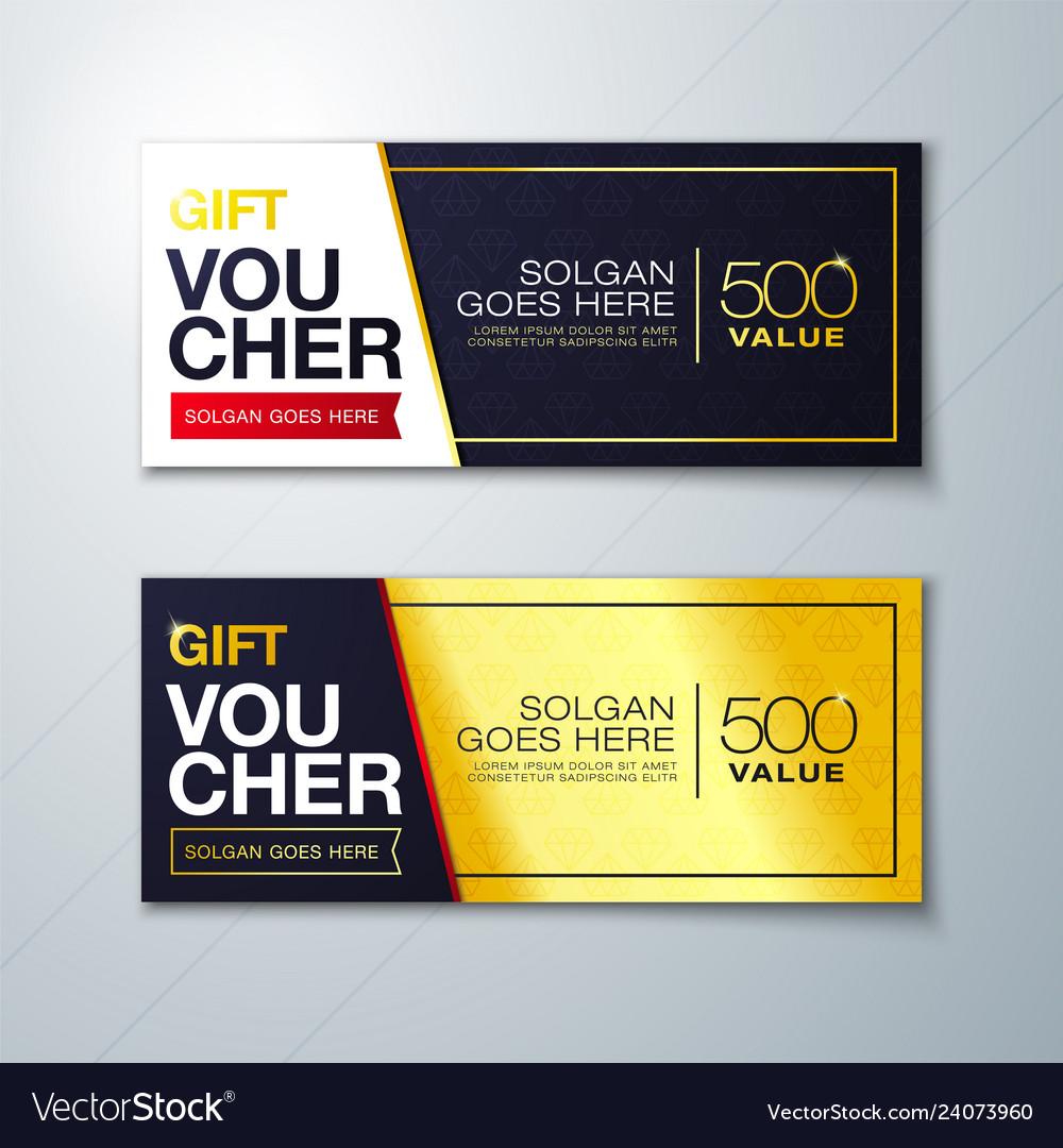 Premium pattern gift voucher template