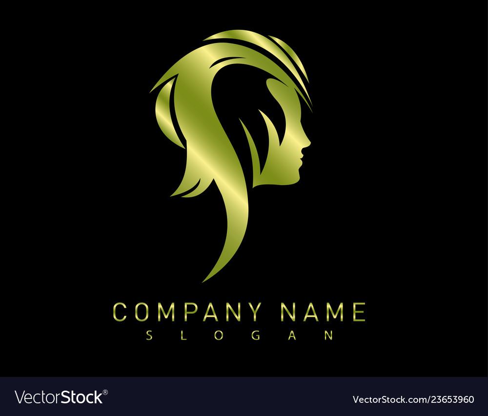 Profile gold woman logo