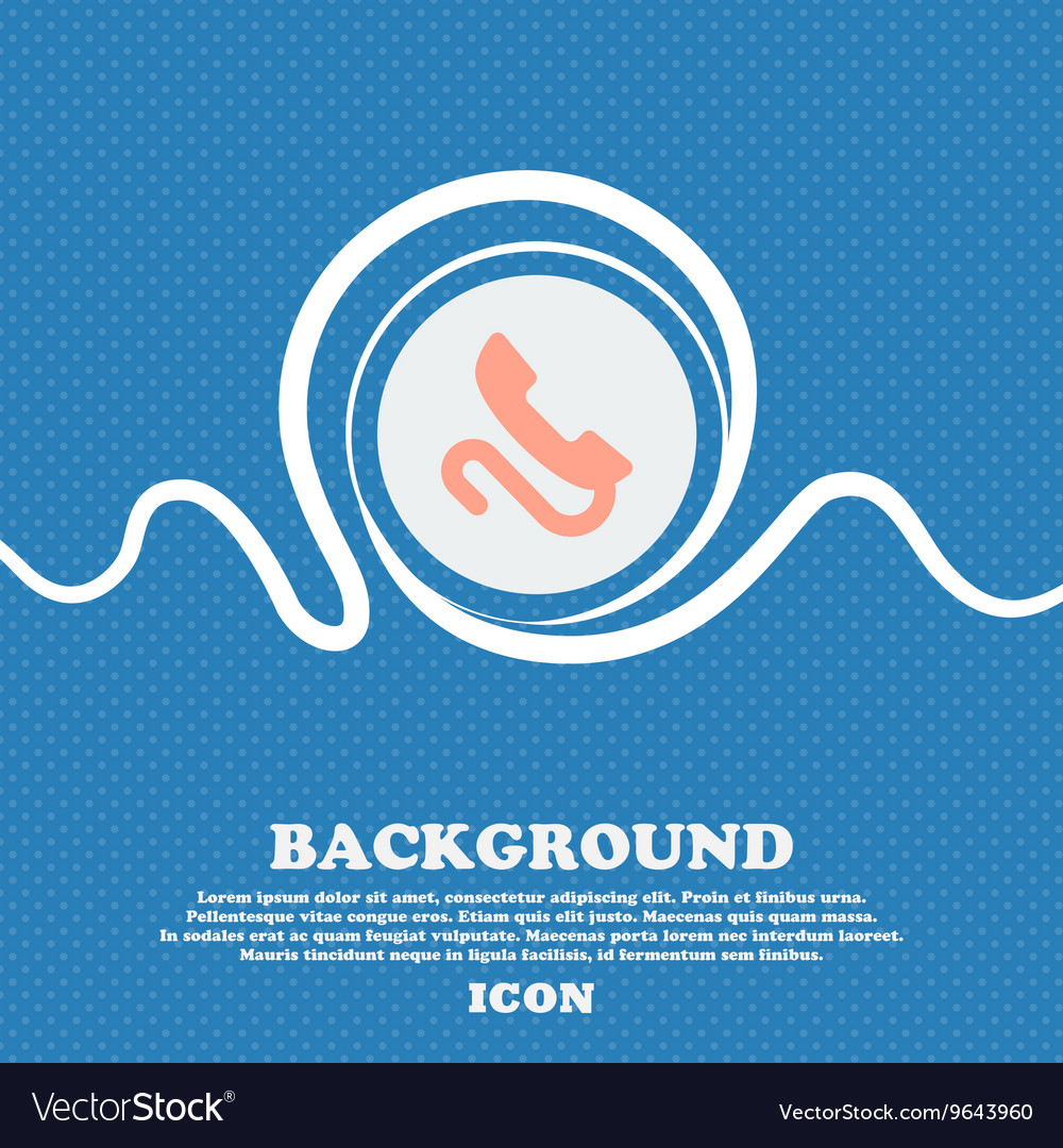 Retro telephone handset sign icon Blue and white vector image
