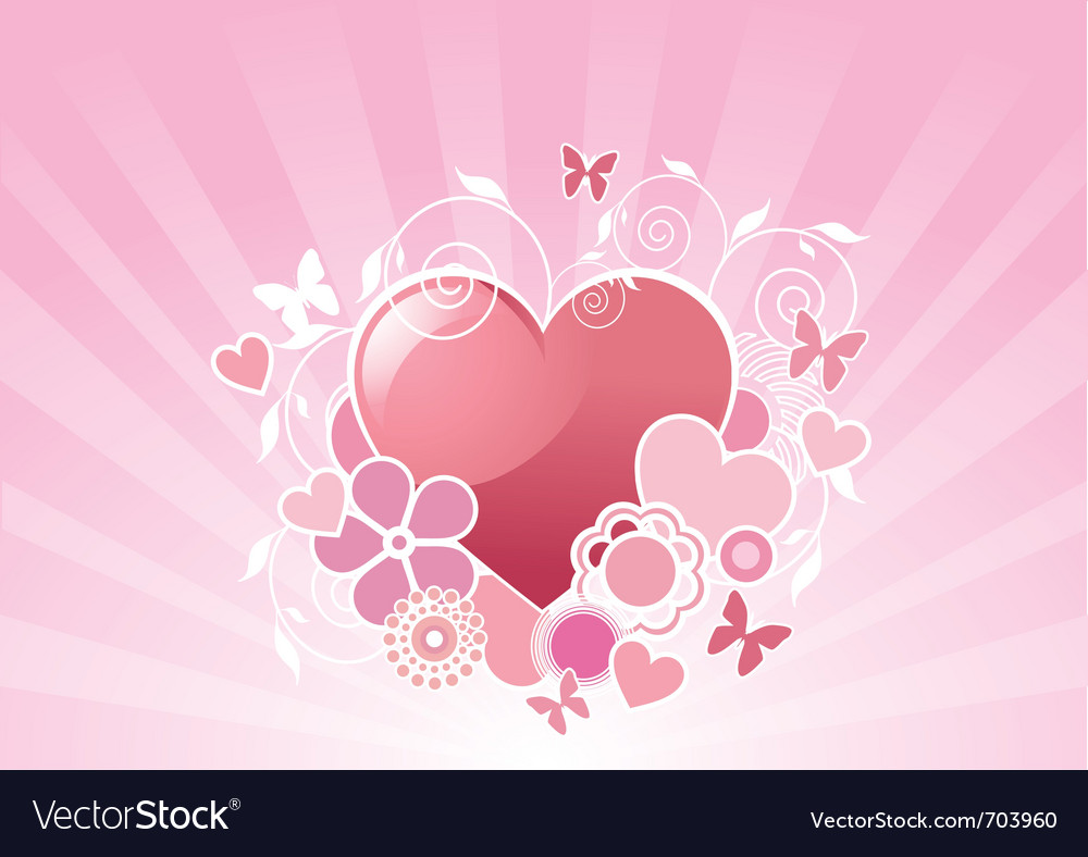 Valentine floral background