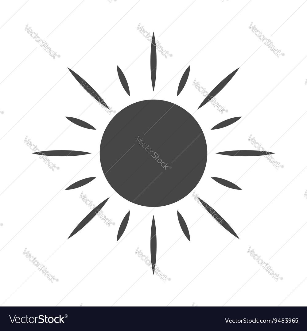 Black design element sun icon