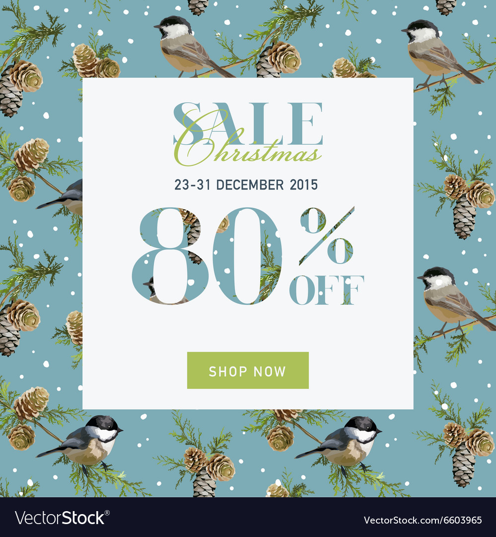 Christmas Sale Banner with Gifts Royalty Free Vector Image