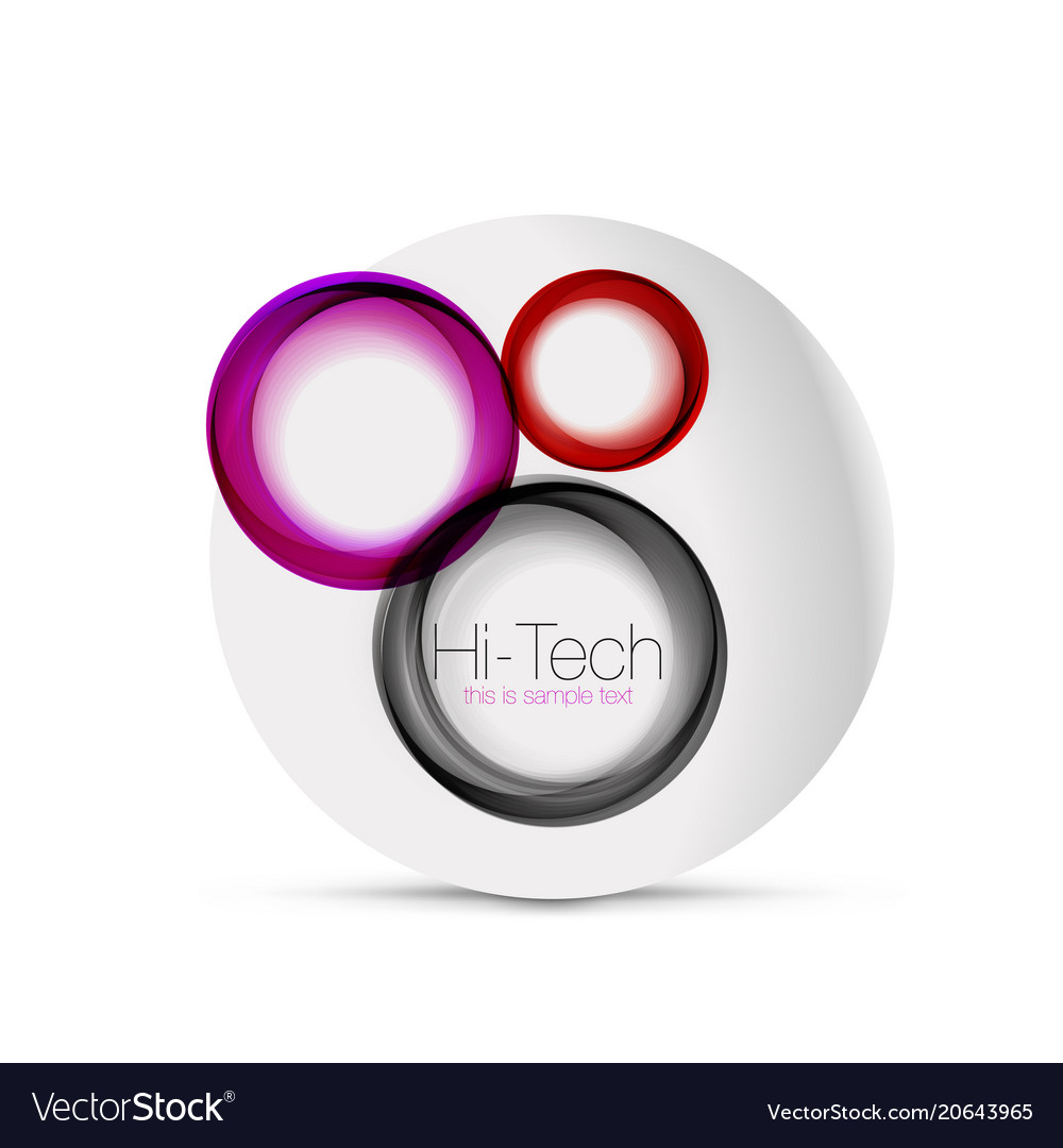 Circle web layout - digital techno spheres - web