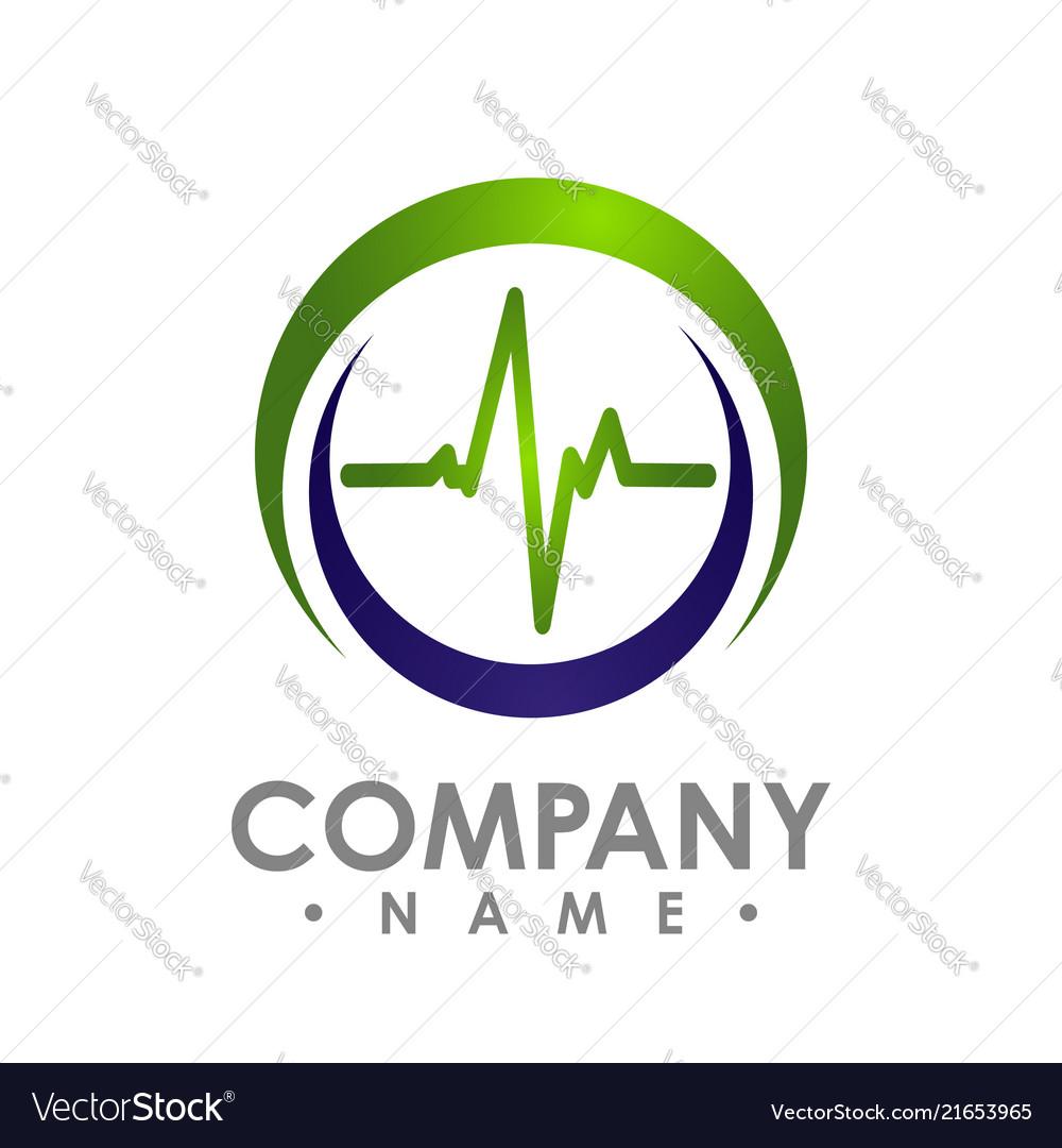 Color shade of circle pulse icon design
