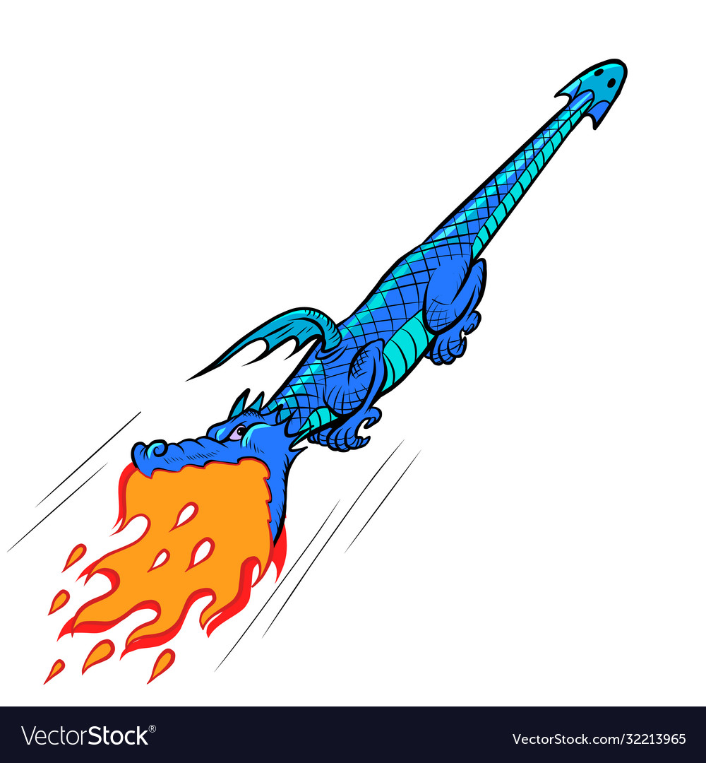 Fire-breathing dragon mythical creature monster