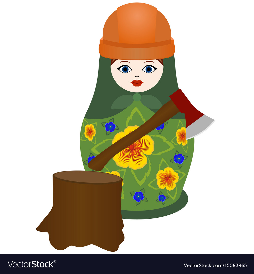 Lumberjack with an ax vector image