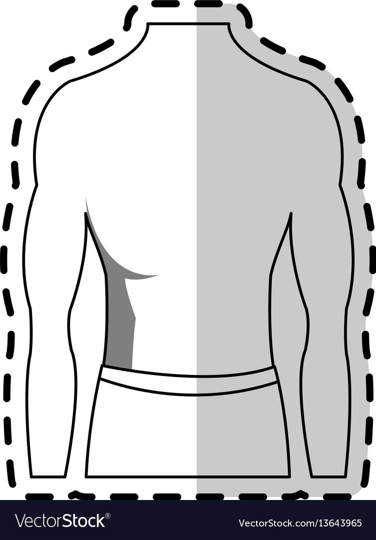 Male torso fit body icon image vector image