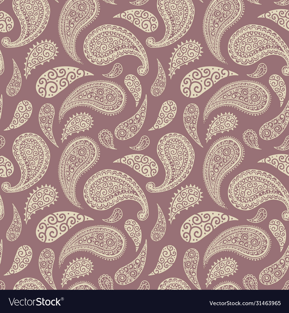 Paisley floral pattern background pink red blue