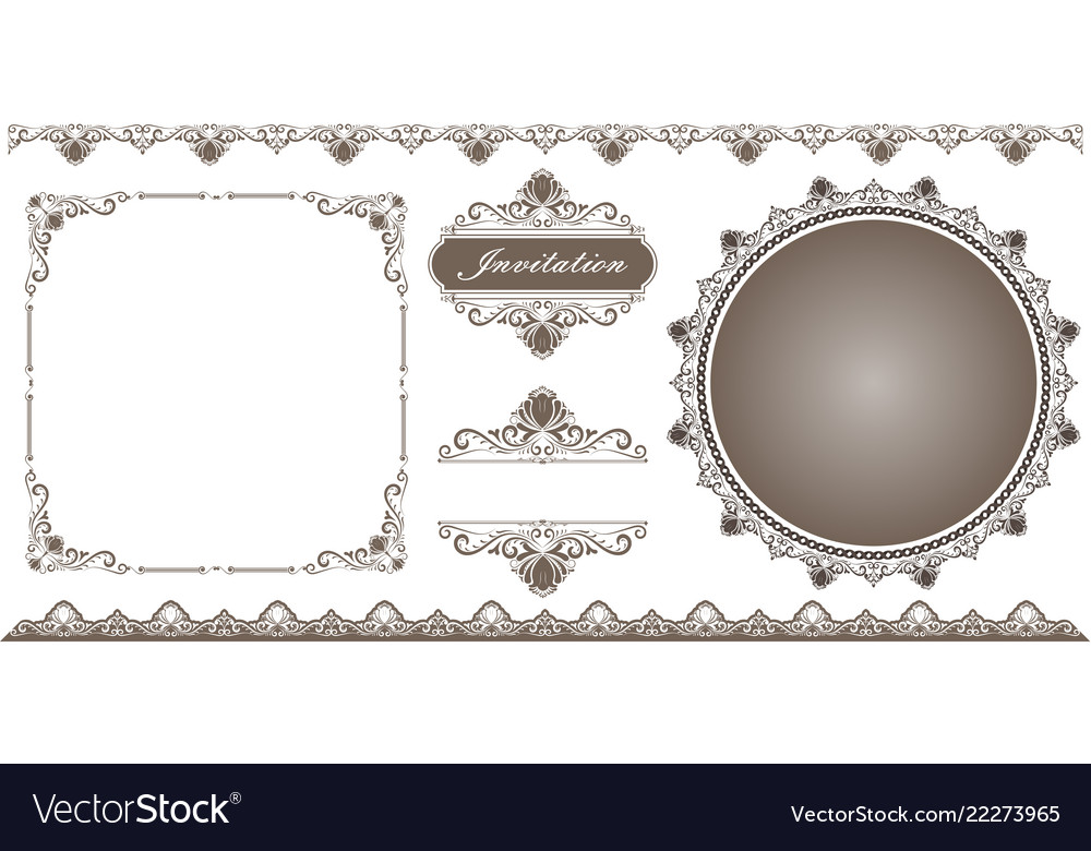Set of decorative frame in vintage style