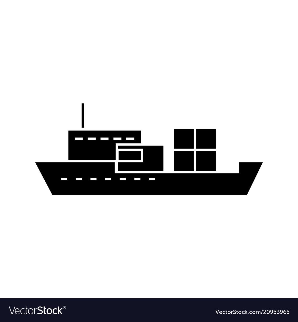 Ship black icon concept ship sign symbo