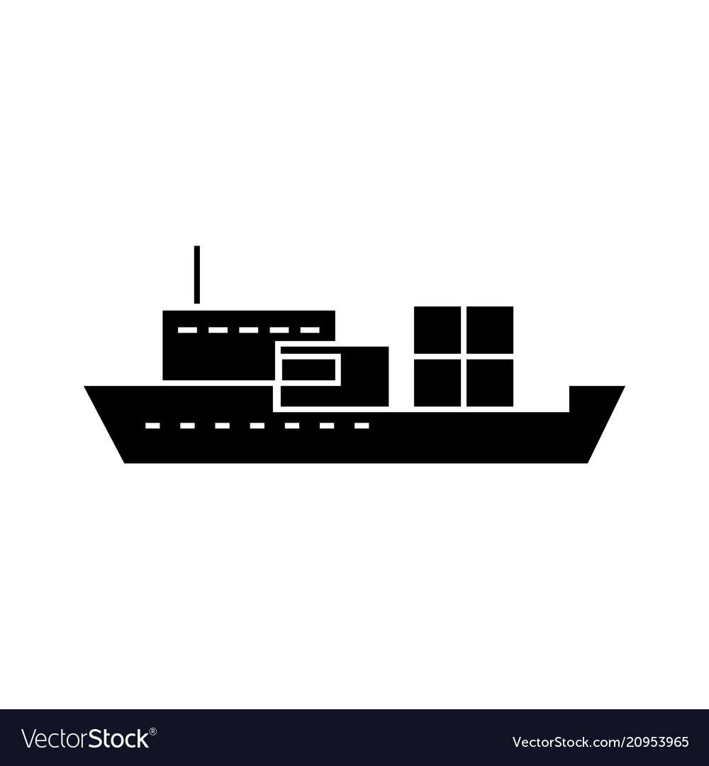 Ship black icon concept sign symbol