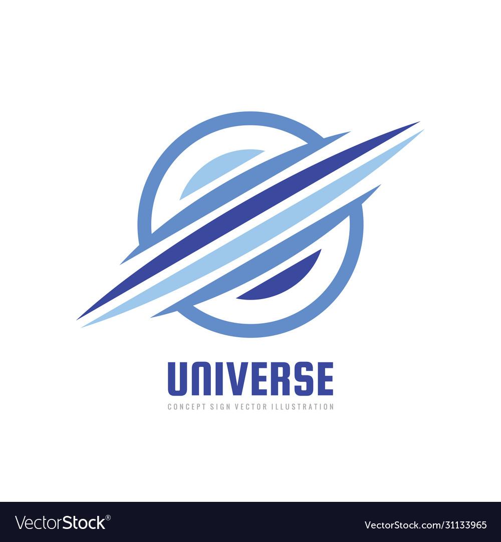 Universe - concept business logo template