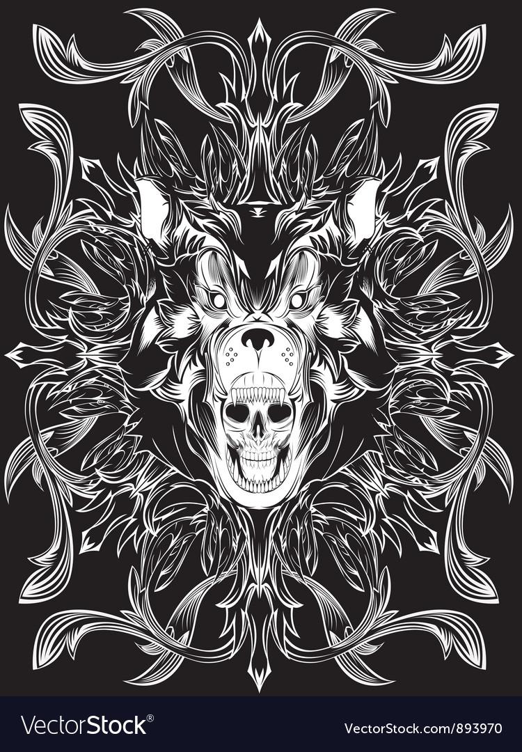 Bear skull pattern