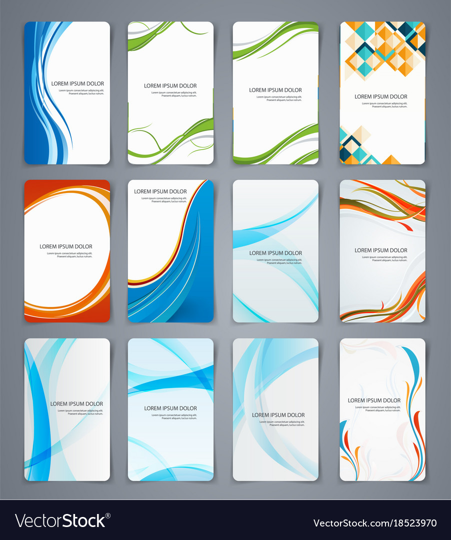 Business cards brochures or banners set of