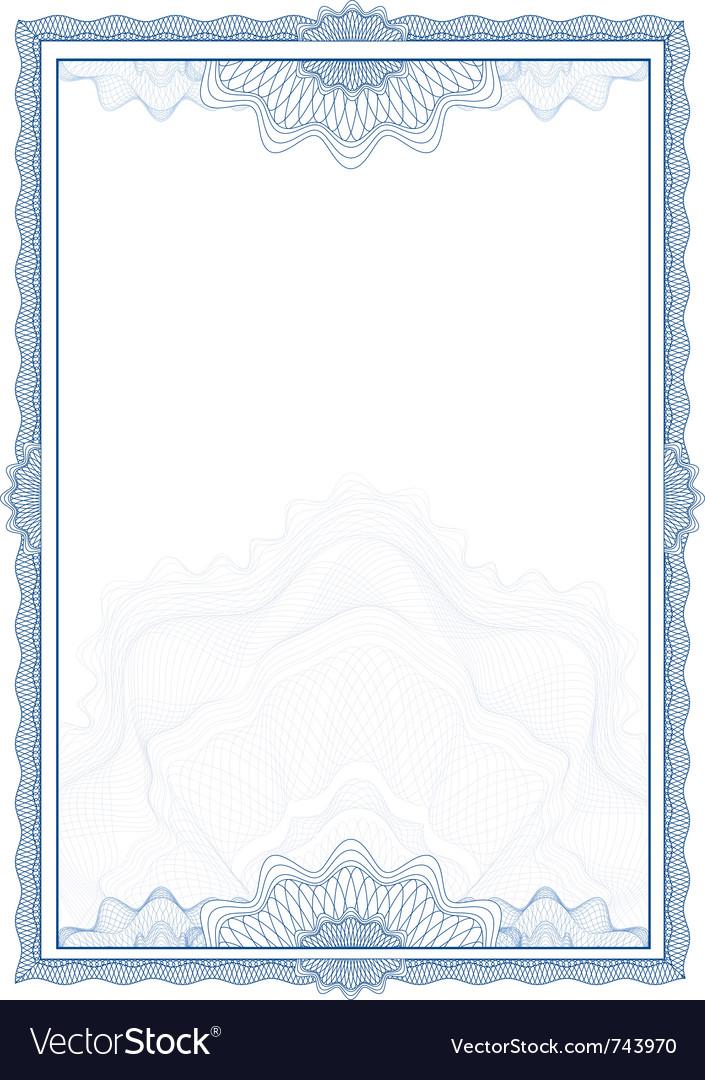 Classic guilloche border for diploma or certificat