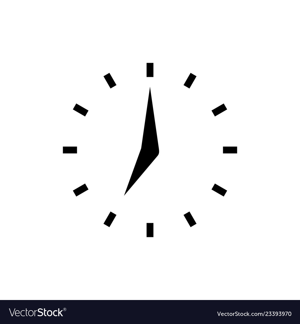 Clock icon with points in flat style clock arrows