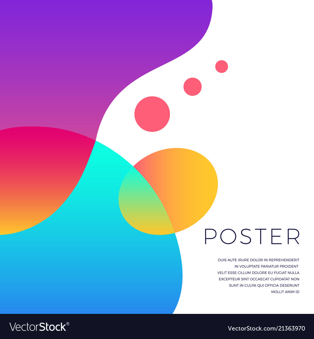 Colorful Abstract Shapes Poster Design Royalty Free Vector,Abstract Geometric Line Design